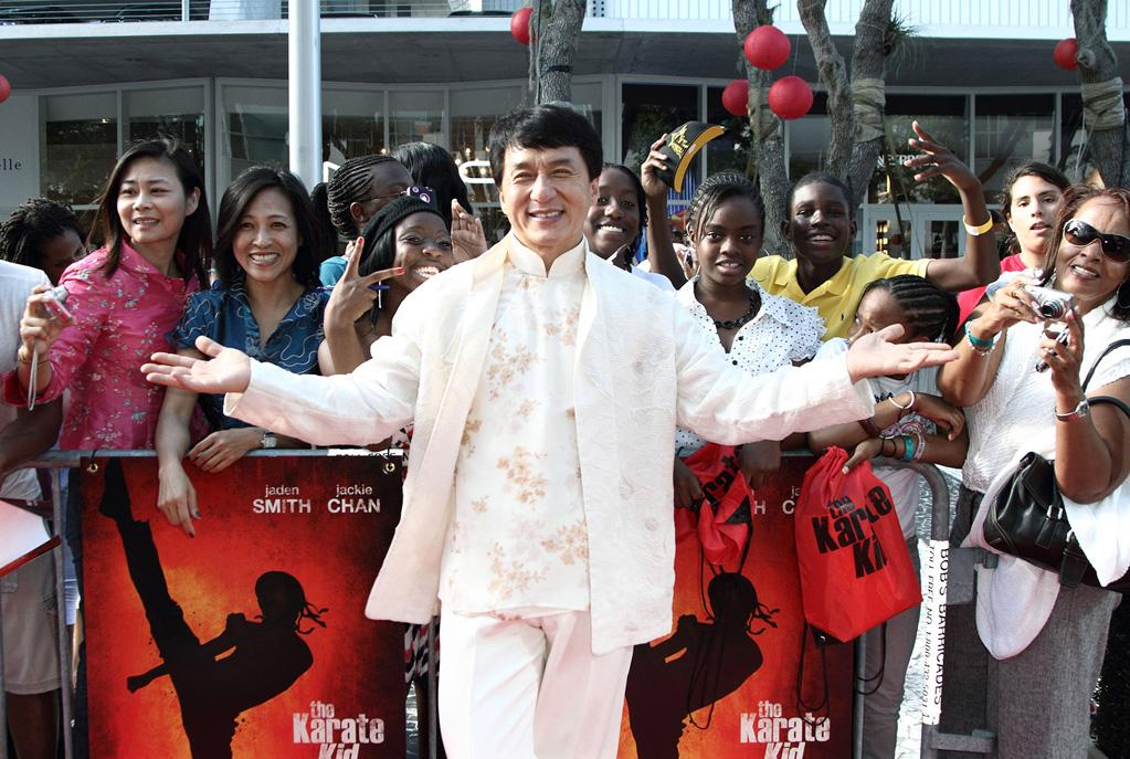 "<a href=""http://movies.yahoo.com/movie/contributor/1800022657"">Jackie Chan</a> at the Miami premiere of <a href=""http://movies.yahoo.com/movie/1810127520/info"">The Karate Kid</a> - 05/24/2010"