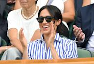 <p>The former Duchess of Sussex had on these sophisticated shades from Illesteva when she went to the 2018 Wimbledon Tennis Championships in London. Fast forward to three years later, they're still a hot commodity and very much obtainable on Illesteva's site RN!</p>