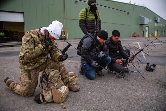 Army Special Forces Green Berets radios in Arctic