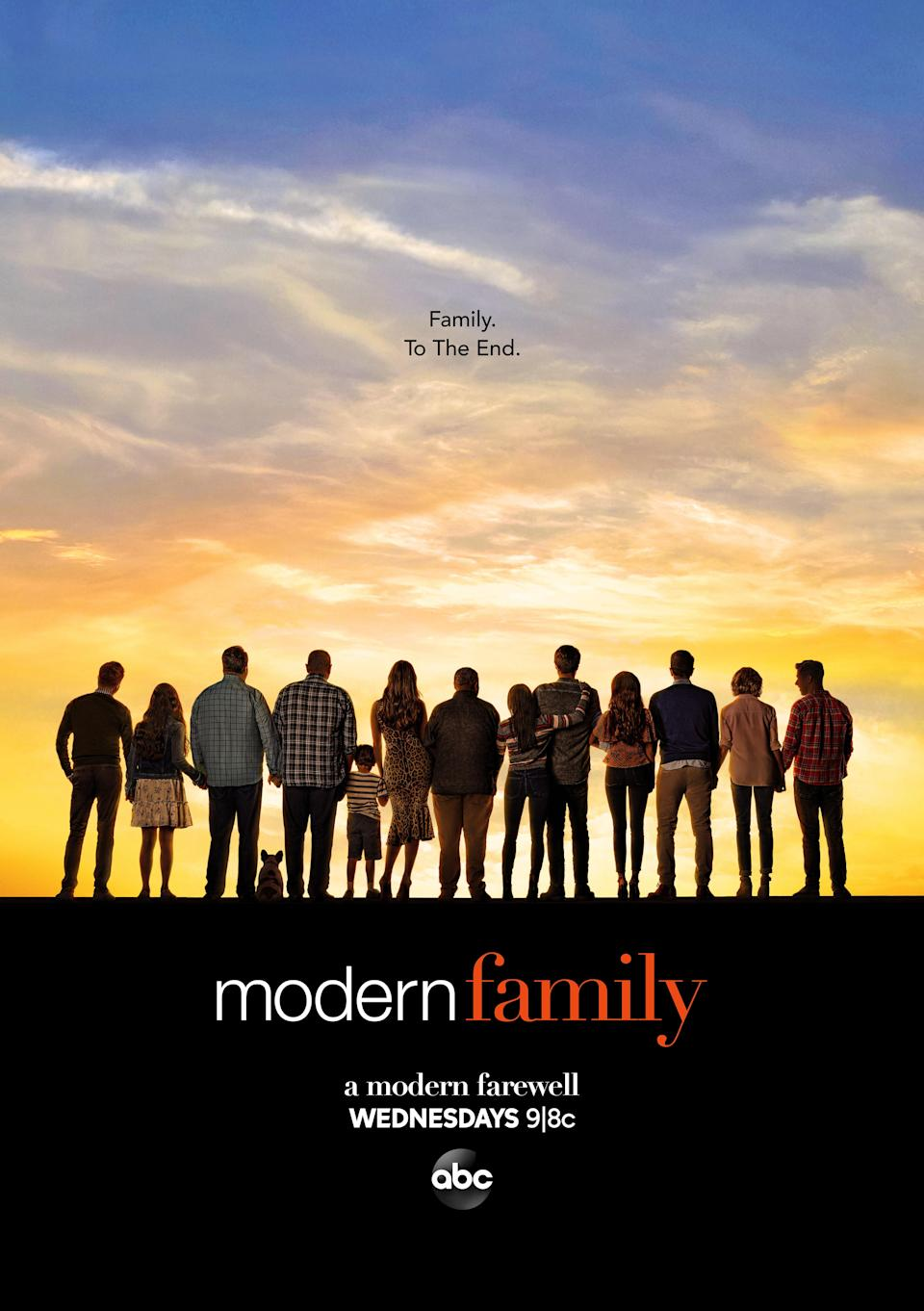 After 11 years of groundbreaking TV, <em>Modern Family</em> is signing off. It's hard to imagine a time with the Dunphys <em>weren't</em> on our TV screens, but alas, all things must come to an end sometime. Be sure to give it proper reverence—and remember, you'll always have reruns. <em>9 p.m. ET on ABC.</em>