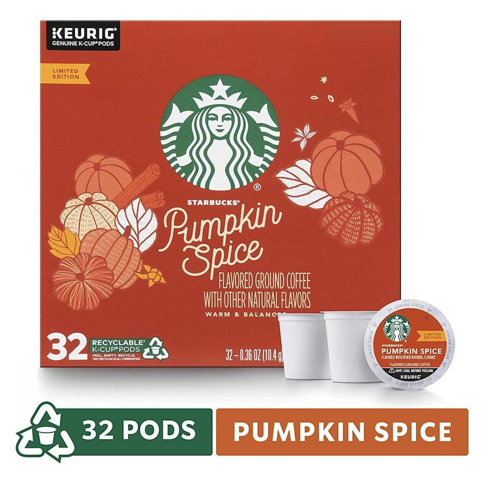 <p>Not in the mood for a latte? Try this <span>Starbucks Pumpkin Spice Flavored Single-Cup Coffee</span> ($22 for 32).</p>