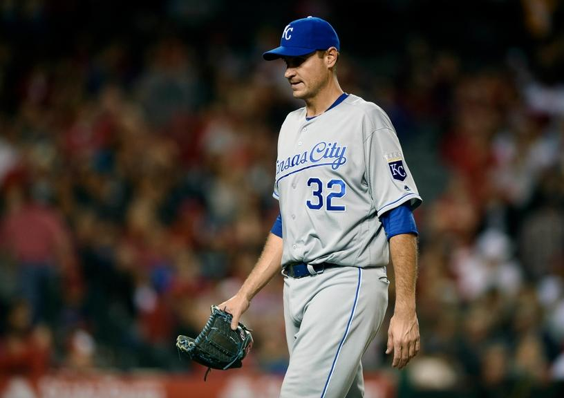 Mets GM candidate Chris Young pitching with the Royals