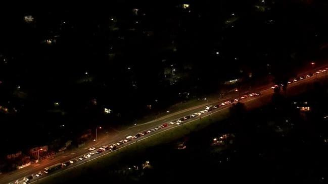 The mayor said cars were lined up all night, disturbing residents. Source: ABC News