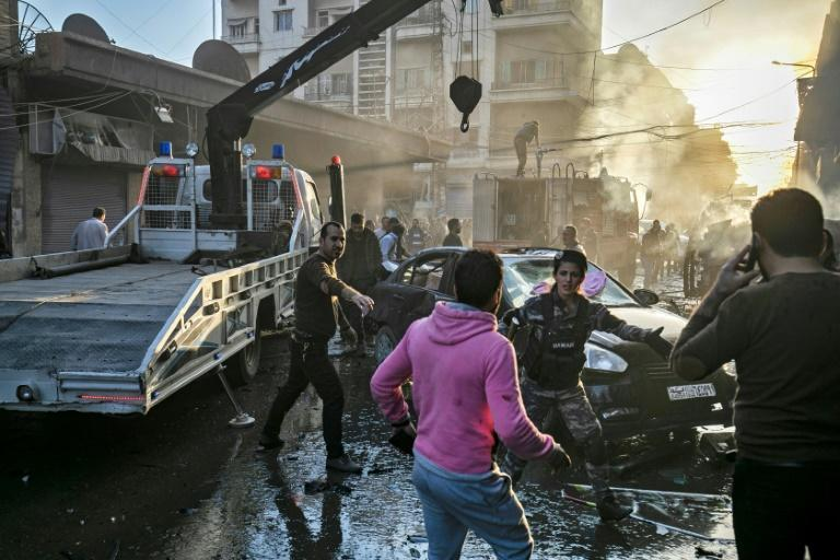 Qamishli is a Kurdish-majority city in northeastern Syria where the Islamic State group has continued to claim deadly attacks even after being expelled from their proto-state in March by US-led Kurdish forces (AFP Photo/Delil souleiman)