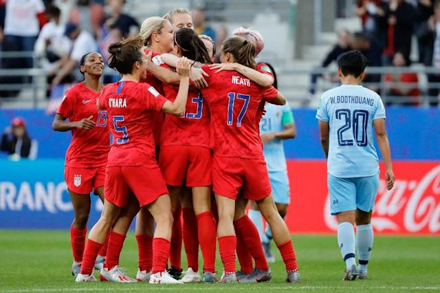 The United States women's team and the country's governing body are set to enter mediation to settle a gender equality lawsuit (AFP Photo/Thomas SAMSON)