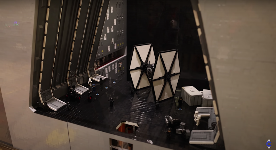 A fan-made LEGO Starkiller Base at the Brick Rodeo convention in Texas.