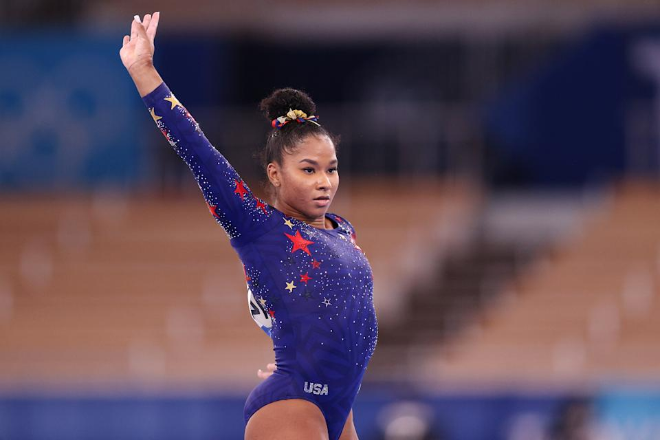 <p>Jordan owns her own clothing line called Melanin Drop Clothing Co. The brand sells athleisure wear. (Photo by Ezra Shaw/Getty Images)</p>