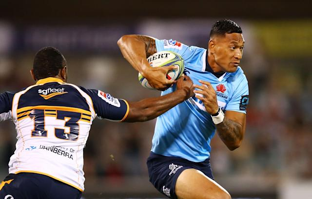 Australian rugby player Israel Folau stood by homophobic comments he made on Instagram. (Getty Images)