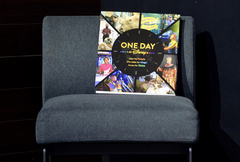 "ANAHEIM, CA - AUGUST 22: Ricky Strauss, president, content and marketing for Disney+ and Good Morning America, that""u2019s the new 224 page coffee table book and documentary series titled, One Day, during a media preview at the D23 Expo in Anaheim, CA, on Thursday, Aug. 22, 2019. The book and series was takes a day-in-the-life look at Disney employees on February 21, 2019.""n(Photo by Jeff Gritchen/MediaNews Group/Orange County Register via Getty Images) ""n""n"