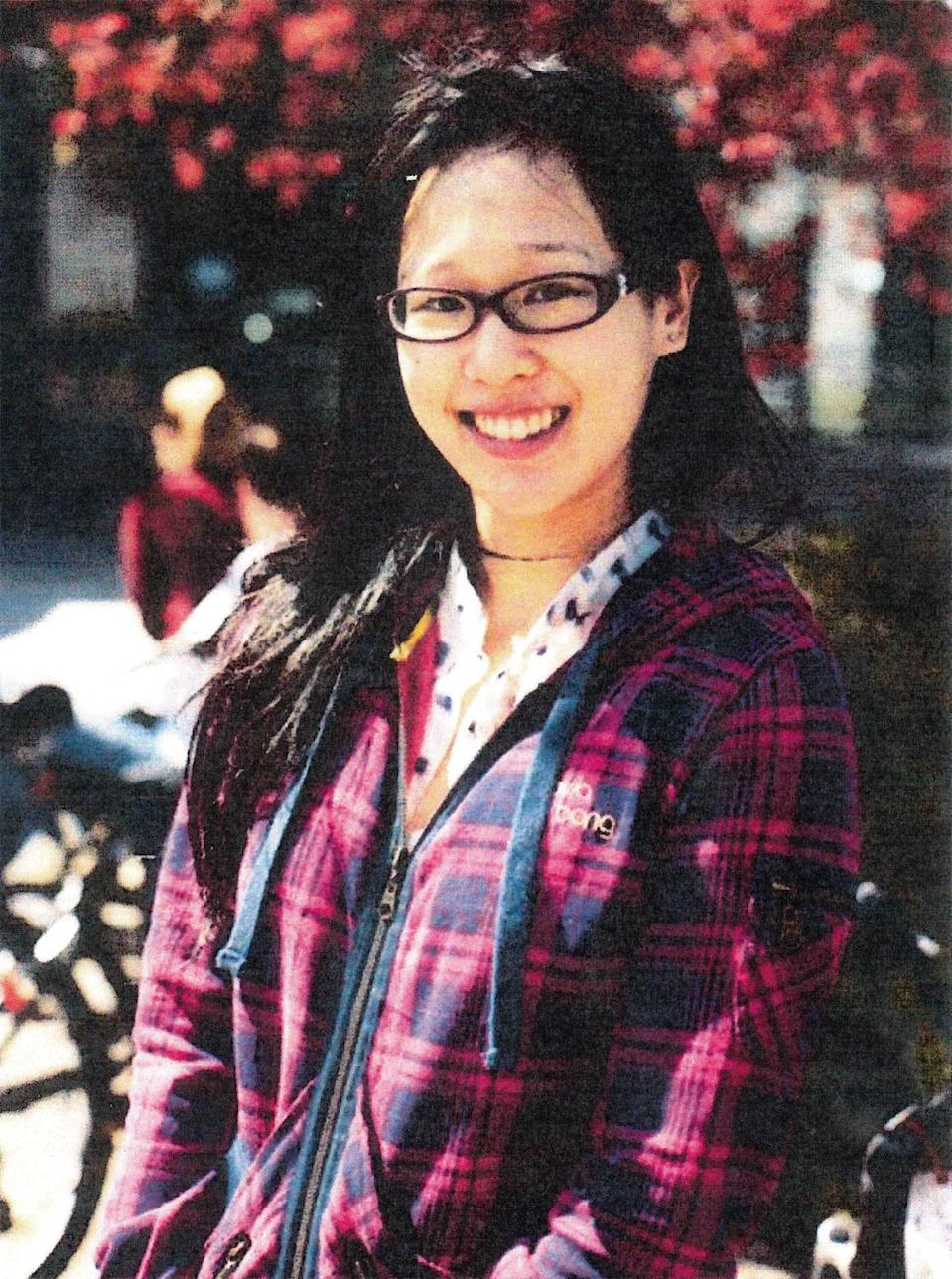 FILE - This file photo released by the Los Angeles Police Department shows Elisa Lam of Vancouver, B.C. Los Angeles police say a body has been found on the roof of the Cecil Hotel where Lam, a Canadian tourist, was last seen last month. (AP Photo/Los Angeles Police Department, File)