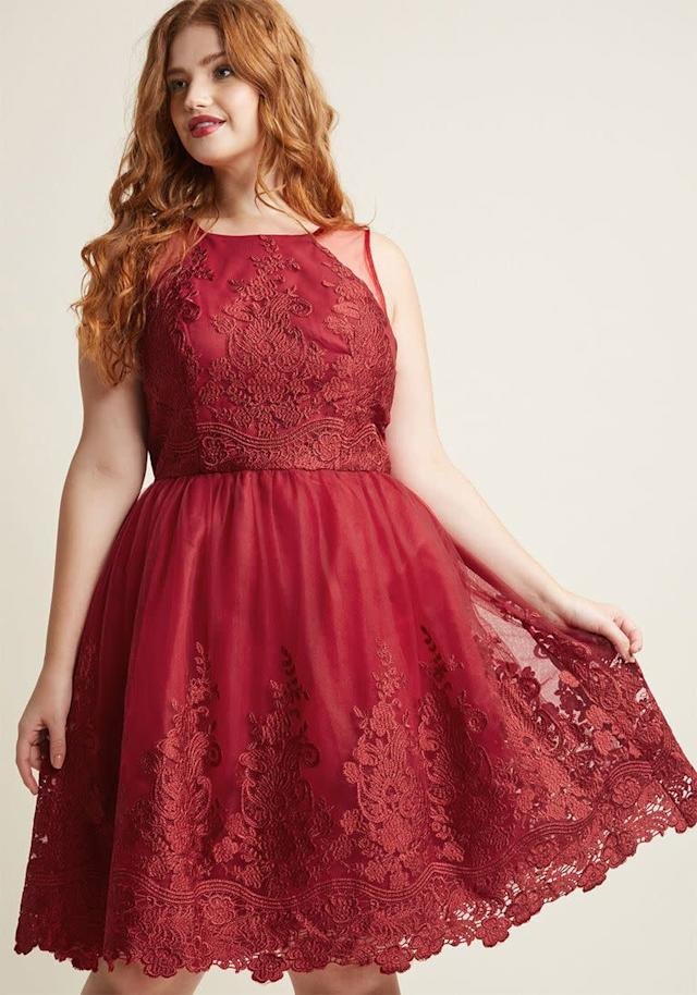 From <span>Modcloth</span>. Comes up to a size 26.