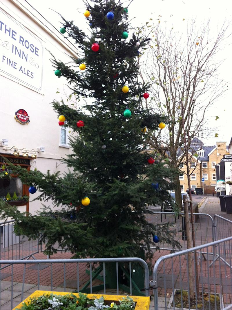 Limp: The tame tree in Herne Bay has been roundly panned (SWNS)