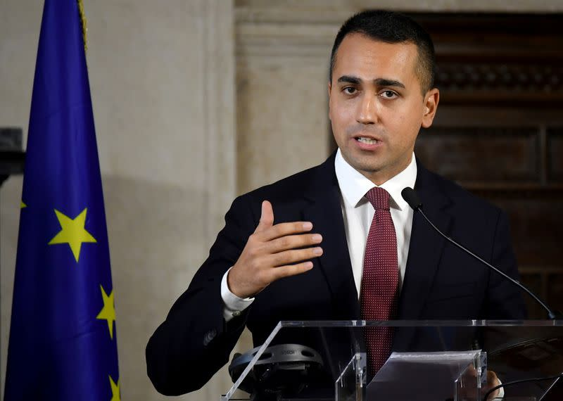 Italy's 5-star leader Di Maio says Rome must delay approval of ESM reform