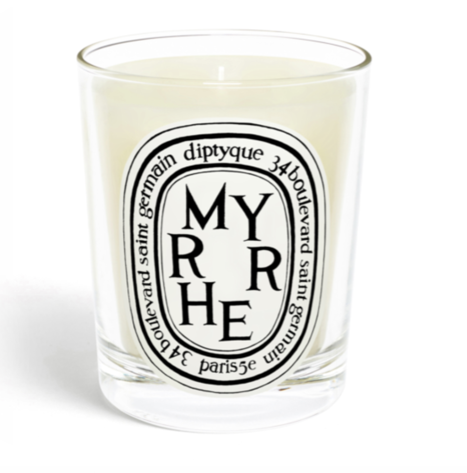 Diptyque's luxury Myrrhe candle is the ultimate woodsy, Christmas candle.