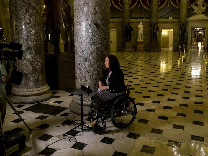 Tammy Duckworth, who lost both her legs in the Iraq War: Pete Marovich/Getty Images