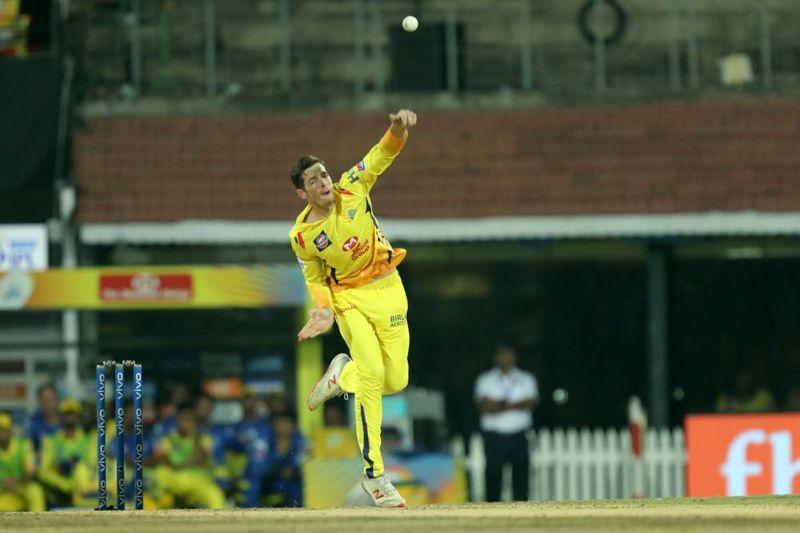 Mitchell Santner can do better on a dew-less evening here at Chepauk. (Image Courtesy: IPLT20)