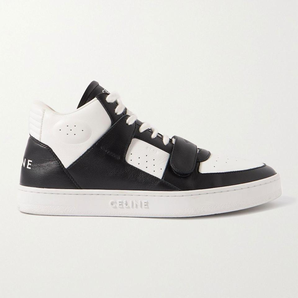 """<p><strong>CT-02 Leather Sneakers</strong></p><p>mrporter.com</p><p><strong>$760.00</strong></p><p><a href=""""https://go.redirectingat.com?id=74968X1596630&url=https%3A%2F%2Fwww.mrporter.com%2Fen-us%2Fmens%2Fproduct%2Fceline-homme%2Fshoes%2Flow-top-sneakers%2Fct-02-leather-sneakers%2F13452677151504778&sref=https%3A%2F%2Fwww.esquire.com%2Fstyle%2Fmens-accessories%2Fadvice%2Fg2538%2Fluxury-sneaker-brands-worth-spending-money%2F"""" rel=""""nofollow noopener"""" target=""""_blank"""" data-ylk=""""slk:Shop Now"""" class=""""link rapid-noclick-resp"""">Shop Now</a></p><p>At this point, it seems entirely possible that Hedi Slimane has some sort of crystal ball telling him exactly when to pounce on the zeitgeist with a new release. Back at Dior, he did it with jeans and skinny suits. Then he jumped over to Saint Laurent and did it again, with both of those categories but much-beloved sneakers, too. Now, at Celine Homme, he's got Gen Z dressing up like younger versions of their bourgeois grandparents and snapping up sneakers so fast it wasn't particularly easy to find an in-stock option to feature here. </p>"""