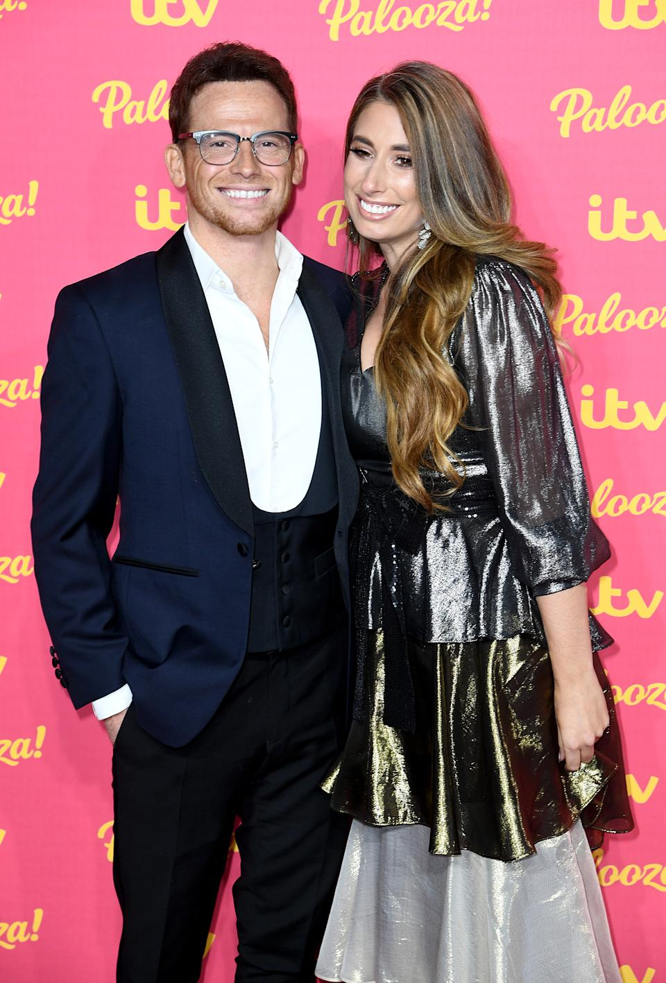 Joe Swash (left) and Stacey Solomon (right) attending the ITV Palooza held at the Royal Festival Hall, Southbank Centre, London.