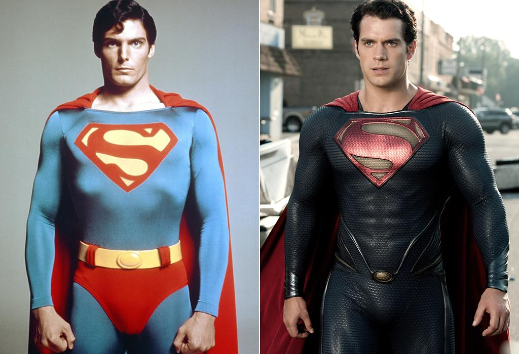 """<b>SUPERMAN'S SUIT</b><br>One has red shorts. The other does not. Because, apparently, in 2013, we just can't take the red shorts seriously any more … at least <a href=""""http://movies.yahoo.com/blogs/movie-talk/zack-snyder-takes-off-superman-underwear-man-steel-222100414.html"""">according to Zack Snyder</a>. Let's just say that while we probably won't miss them, we also wouldn't have minded if they had been there <span style=""""font-size:11.0pt;"""">–</span> just for, you know, the sake of tradition."""