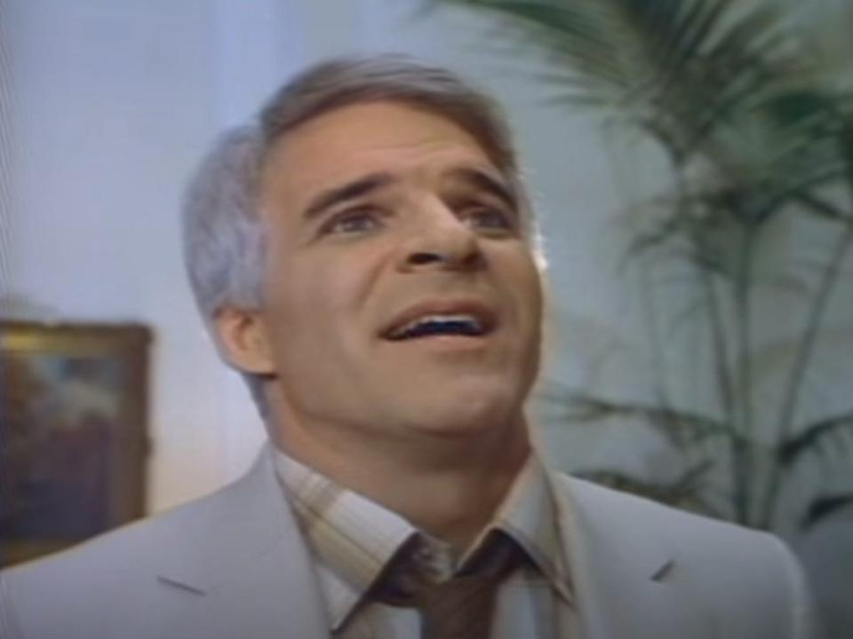 """Steve Martin in """"The Man with Two Brains"""" in 1983."""