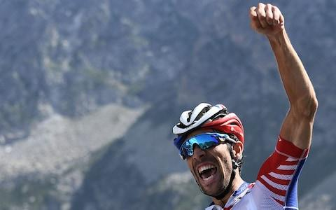 <span>Thibaut Pinot claimed what was arguably the biggest win of his career in the high Pyrenees </span> <span>Credit: Getty Images </span>