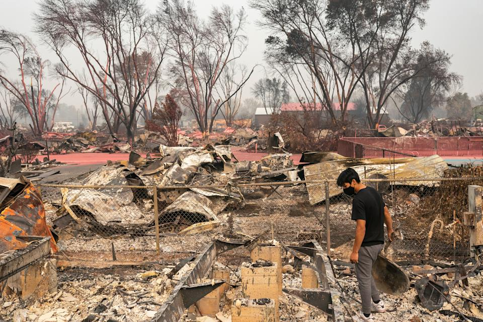 In September, the Almeda fire killed three people and burned nearly 3,000 homes in a region of Oregon already grappling with an affordable housing shortage. (Photo: Nathan Howard via Getty Images)
