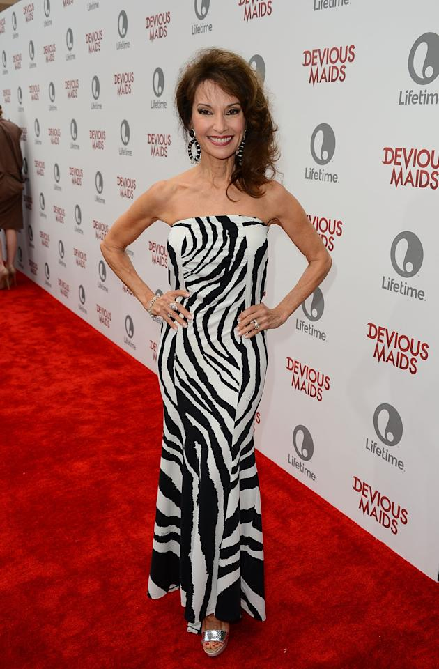 PACIFIC PALISADES, CA - JUNE 17:  Actress Susan Lucci attends the premiere of Lifetime Original Series 'Devious Maids' at Bel-Air Bay Club on June 17, 2013 in Pacific Palisades, California.  (Photo by Mark Davis/Getty Images)