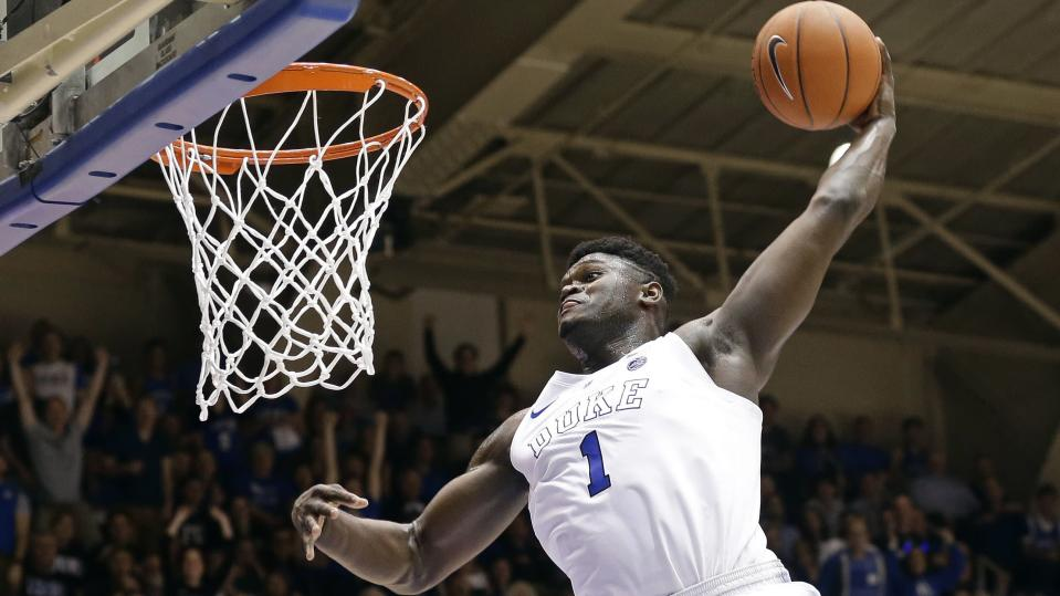 Zion Williamson and Duke are still scheduled to play hated rival UNC at least twice this season. (AP)