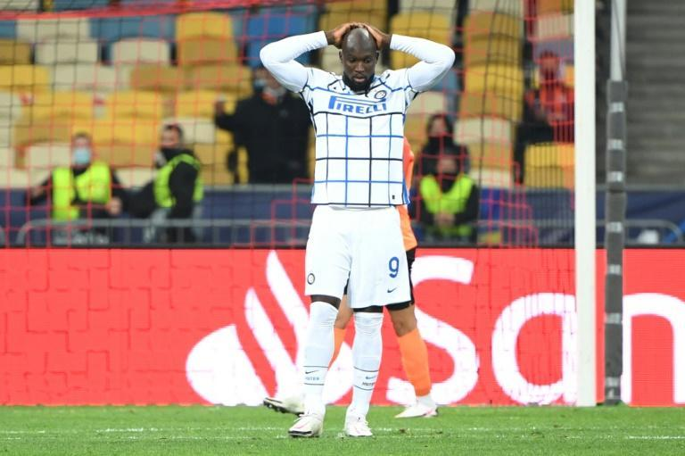 Romelu Lukaku was one of two Inter players to hit the woodwork in the 0-0 draw with Shakhtar Donetsk