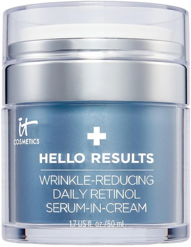 <p>The <span>It Cosmetics Hello Results Wrinkle-Reducing Daily Retinol Serum-in-Cream</span> ($59) is a gentle, daily anti-aging treatment that won't irritate the skin like many other retinol products because it also contains vitamin E and B5 to soothe and hydrate. This ingredient cocktail is what makes it suitable for even those with sensitive skin.</p>