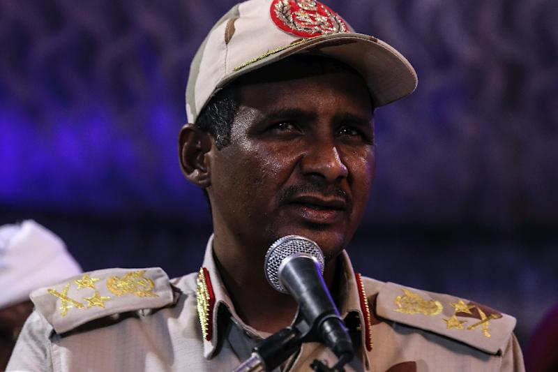 Mohamed Hamadan Dagalo, also known as Himedti, has become deputy head of the ruling military council (AFP Photo/-)