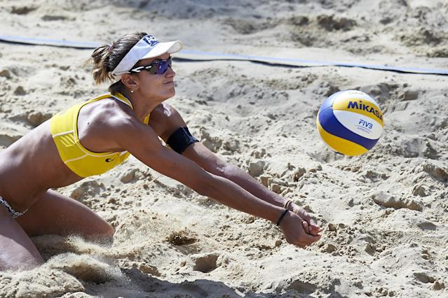 <p>The all-time leader of beach volleyball titles, Franca entered retirement after taking bronze in the 2012 Olympics. It was short-lived, though, as she returned to competition and earned a spot at the Rio Games. She married fellow beach volleyball player Liliane Maestrini in 2013. (Getty) </p>