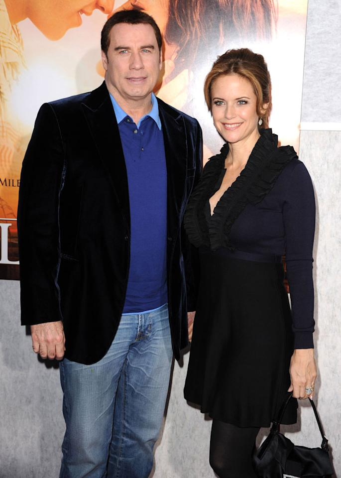 "John Travolta and wife Kelly Preston welcomed son Benjamin to the family on November 23. The new arrival weighed in at 8 pounds and 3 ounces. The ""Pulp Fiction"" star, 56, and ""The Last Song"" actress, 47, already have a daughter, 10-year-old Ella, and they tragically lost a son, 16-year-old Jett, in 2009. Steve Granitz/<a href=""http://www.wireimage.com"" target=""new"">WireImage.com</a> - March 25, 2010"