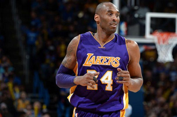 PHOTO: Kobe Bryant #24 of the Los Angeles Lakers is seen during the game against the Oklahoma City Thunder, April 11, 2016, in Oklahoma City, Okla. (Andrew D. Bernstein/NBAE via Getty Images)