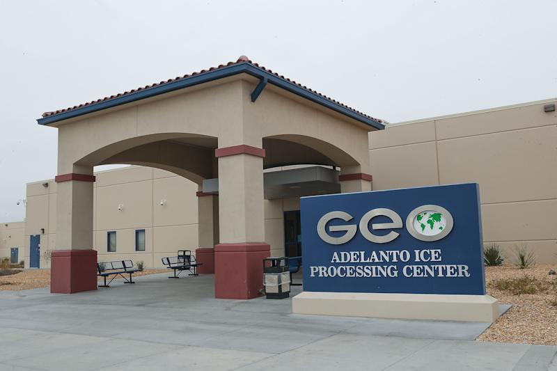 The GEO Group, a private company, operates the U.S. Immigration and Customs Enforcement's Adelanto Processing Center in Adelanto, Calif.