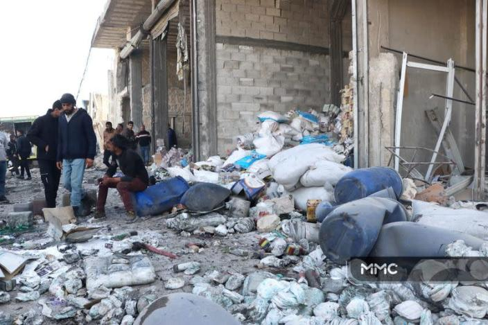 Aftermath of an explosion in Syria's al-Bab city