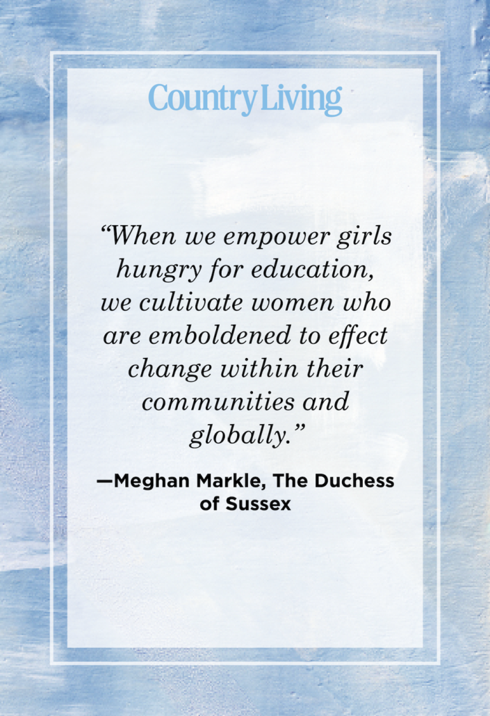 """<p>""""When we empower girls hungry for education, we cultivate women who are emboldened to effect change within their communities and globally."""" </p>"""