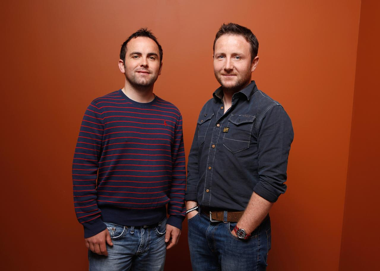 "TORONTO, ON - SEPTEMBER 07:  Editor Eamonn Ó Cualáin and director Seán Ó Cualáin of ""Men At Lunch"" pose at the Guess Portrait Studio during 2012 Toronto International Film Festival on September 7, 2012 in Toronto, Canada.  (Photo by Matt Carr/Getty Images)"