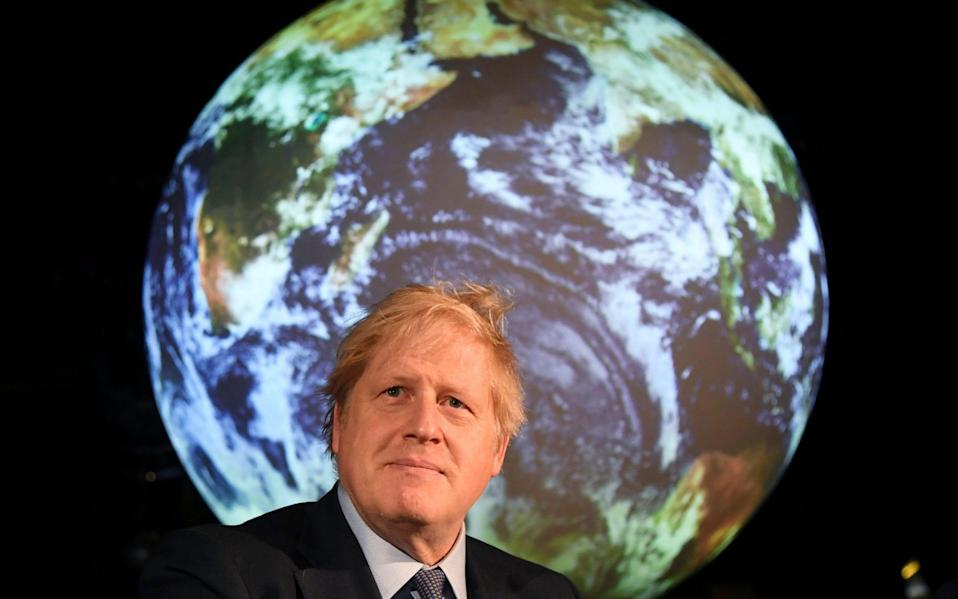 Boris Johnson launches the UK-hosted COP26 UN Climate Summit in London - Jeremy Selwyn/Pool Evening Standard