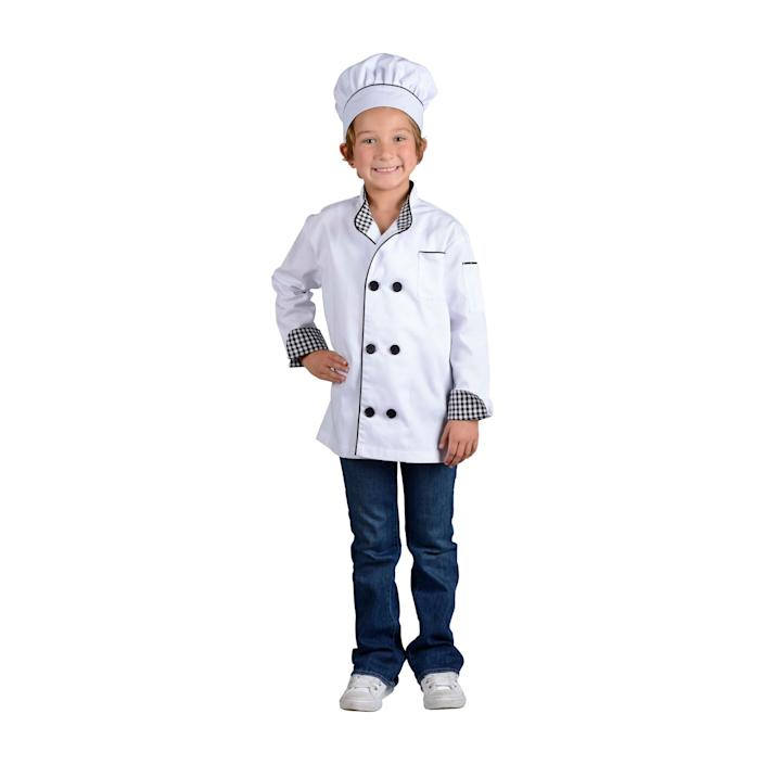 Kid in a chef costume