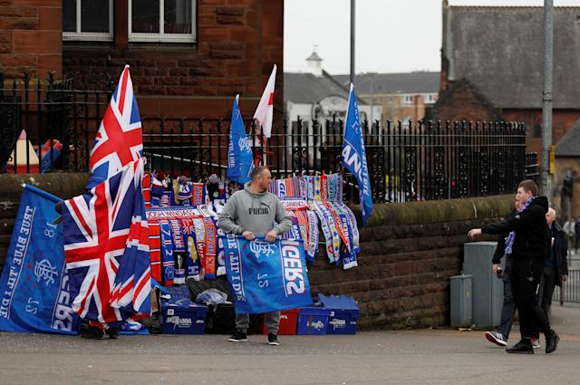 Soccer Football - Scottish Cup Semi Final - Celtic vs Rangers - Hampden Park, Glasgow, Britain - April 15, 2018 General view outside the stadium before the match Action Images via Reuters/Lee Smith