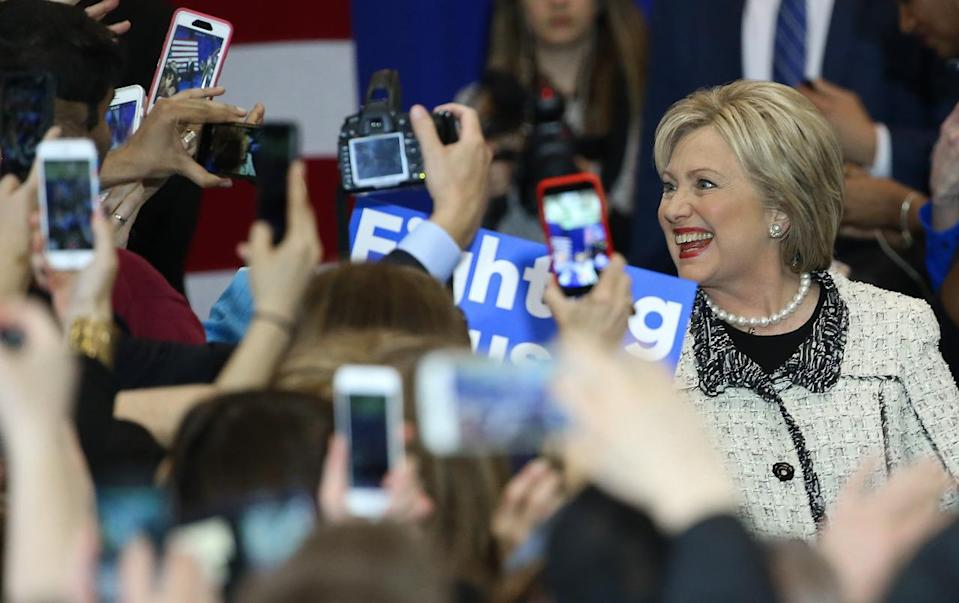 <p>Democratic presidential candidate former Secretary of State Hillary Clinton greets supporters at an event Saturday in Columbia, S.C. <i>(Photo: Win McNamee/Getty Images)</i></p>