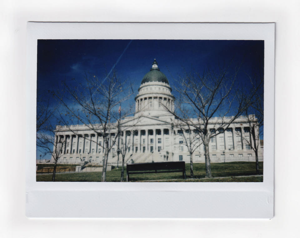 The Utah State Capitol building is photographed in Salt Lake City. Monday, Nov. 16, 2020. When it comes to politics, Utah has long claimed things are different here. Political viciousness is for other places, many politicians will tell you. Legislators are more polite, more willing to compromise. The deep conservatism, the folklore says, includes a powerful strain of compassion. (AP Photo/Wong Maye-E)
