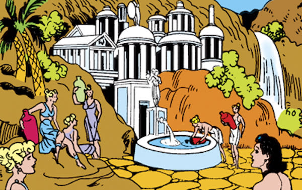 Paradise Island as depicted in <i>All-Star Comics</i> (Credit: DC Comics)