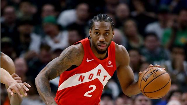 The Toronto Raptors moved to within one win of a first appearance in the NBA Finals after an inspirational display from Kawhi Leonard.