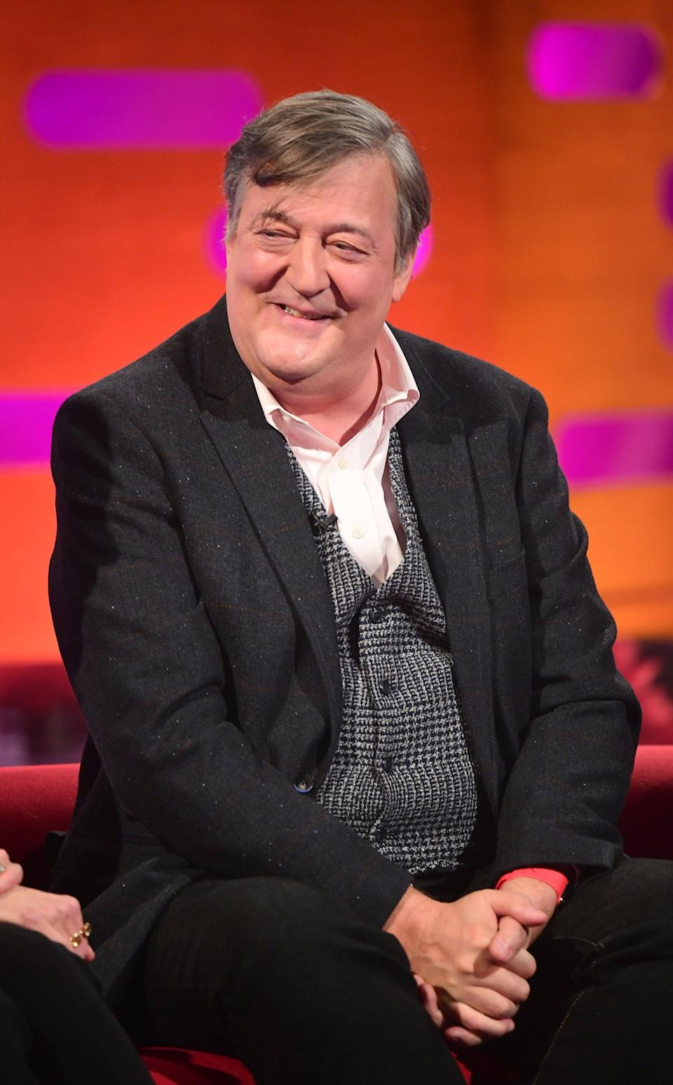Fry, seen here in 2018, has also spoken about feeling suicidal thoughts (PA Images on behalf of So TV)