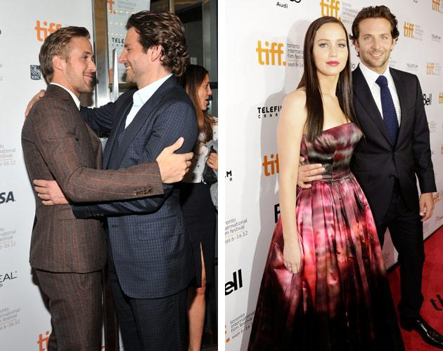 "The sexiest man alive was double sexy at TIFF this year. Bradley Cooper first hit the red carpet for ""The Place Beyond the Pines,"" where he made sure to get some man-love from co-star Ryan Gosling (the guy <a target=""_blank"" href=""http://ca.movies.yahoo.com/blogs/wide-screen/ryan-gosling-bradley-cooper-hug-post-sexiest-man-160233650.html"">he thinks is sexiest in the world</a>). The next night, Cooper was on hand to pose with co-star and ""Hunger Games"" heroine Jennifer Lawrence for their indie dramedy ""Silver Linings Playbook."" Two TIFF premieres in two days? This time, at least, Cooper has Gosling beat."