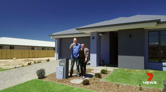 Greg and Louise Sanderson have bought their first home with a $2000 deposit. Photo: 7 News