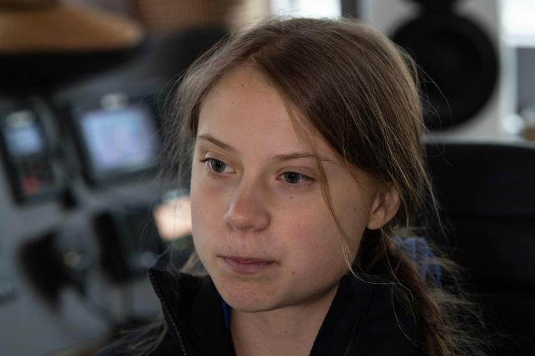 Swedish climate activist Greta Thunberg has become known for her fiery speeches to world leaders (AFP Photo/NICHOLAS KAMM)
