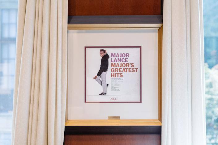Framed album cover of American singer Major Lance in the office of Atlanta Mayor Keisha Lance Bottoms. (Photo: Lynsey Weatherspoon for Yahoo News)